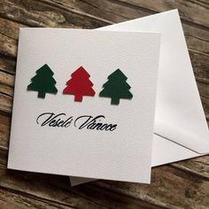 Mini vánoční přání se stromečky Paper Crafts, Cards, Christmas, Thesis, Navidad, Tissue Paper Crafts, Paper Craft Work, Weihnachten, Christmas Music