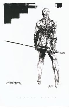 Character Sketches for Metal Gear Solid (1998) by Yoji Shinkawa
