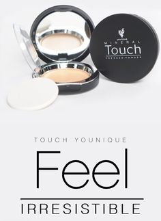 Feel Irrisistable with Younique's NEW Touch compacts! Get either concealer or pressed powder in 10 different shades!