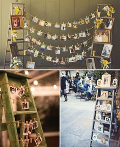 15 wonderful ways to display photos at your wedding! The LinenTablecloth blog!