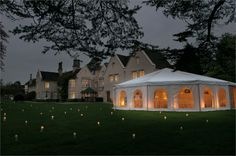 BIJOU WEDDINGS - Silchester House - the traditional English marquee NEW FOR 2012