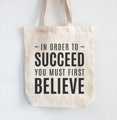 2dd7cfb9c673 Canvas Tote Bag 100% Cotton - Succeed