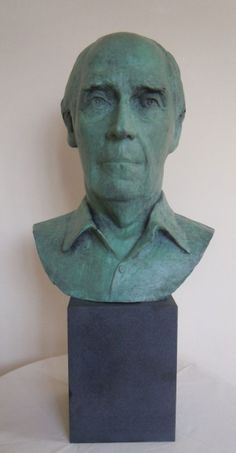 Bronze Portrait Sculptures / Commission or Bespoke or Customised sculpture by artist Jane Robbins titled: 'Sir George Martin (bronze Portrait Bust Head Commission statues)'