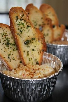 Individual Spinach Artichoke Dip with Crostini |  Crave Catering Austin | Austin, Texas | 2012 Rockwell Catering and Events