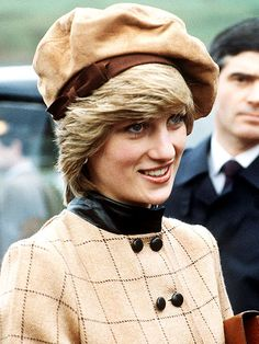 FRENCH TWISTFor a visit to Twyn, Wales, in November 1982, Diana donned a camel-colored beret.