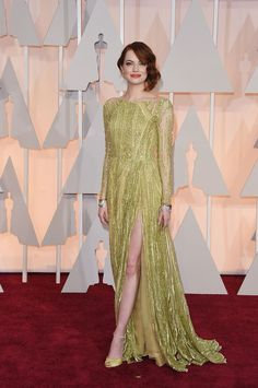 The Best Dressed at the 2015 Oscars - Emma Stone in Elie Saab Couture
