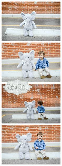 a little boy and his best elephant friend one year old cake smash session Debby Ditta Photography: just a little bit way too cute for words. a little bit. Three year old session Photographer Debby Ditta Photography:Tomball, Spring, Cypress, Houston, The Woodlands, Conroe, TX Texas.  Newborn , baby, children, child, family, maternity, senior custom photography