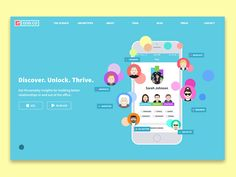 Good.co Personality Type Animated Landing Page Graphic | Motion in User Interface and Web Design
