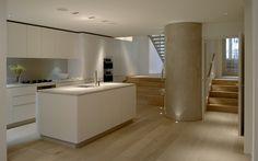 Roundhouse white matt lacquer contemporary kitchen