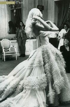 Vestido de novia de Dior.