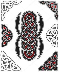 Скачать - Набор элементов, кельтский дизайн — стоковая иллюстрация #3853391