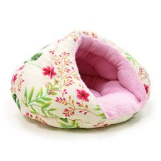 Burger Bed Small Dog Snuggle Bed - Floral | PupLife Dog Supplies