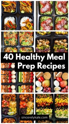Healthy Recipes 40 Healthy Meal Prep Recipes to Make For The Week - Sincerely Kale - Save money and eat well with meal preps! Check out these 40 healthy meal prep recipes your tastebuds will love and your body will thank you for! Clean Recipes, Easy Healthy Recipes, Healthy Drinks, Easy Meals, Diet Recipes, Easy Salads, Advocare Lunch Recipes, Week Meal Prep Recipes, Clean Eating Prep Meals