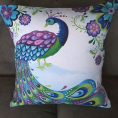Peacock 16 X 16 Decorative Pillow Cover by pictorialboom on Etsy, $34.00