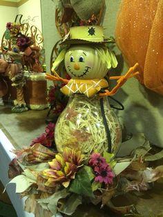 Scarecrow made using Celebrating Home , Bernard Hurricane Lantern, Scarecrow Lantern  Bernard Hurricane #18058 and Scarecrow Lantern # 59528  www.celebratinghome.com/sites/jshepherd