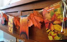 fall banner.. w/ photos & leaves