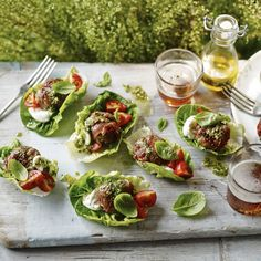 Italian beef patties, a delicious recipe in the new M&S app.
