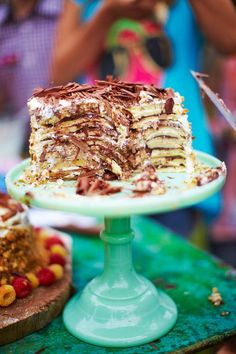 WOW! Pancake Cake, way easier to assemble than a traditional layer cake. via Jamie Oliver