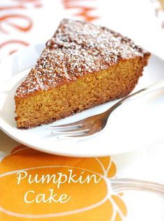 Pumpkin Cake - this is what I'll be making for Thanksgiving, glazed with melted mexican chocolate for a Pumpkin Hot Chocolate cake. Mmmmmm