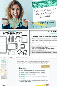 👀What are these resources? We created a hybrid of visuals and journaling that can be used personally, professionally, and/or with students AND it encompasses topics like getting to know you, goal-setting, self-care, executive functioning, and much more. The resource is available as both a Google Slide deck and PDF so digital or analog… we got you covered (no matter what device you have). And please know that these activities can go far beyond the first few weeks of school too! Classroom Setting, Classroom Ideas, Icebreaker Activities, Executive Functioning, Getting To Know You, Math Resources, Educational Technology, Time Management, Prompts