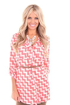 Lime Lush Boutique - Coral Missoni Belted Top, $52.99 (http://www.limelush.com/coral-missoni-belted-top/)