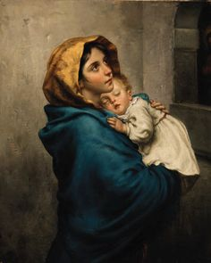 View At the wayside shrine by Johann Georg Meyer von Bremen on artnet. Browse upcoming and past auction lots by Johann Georg Meyer von Bremen. Munier, Madonna And Child, Beauty Art, Mother And Child, Religious Art, Our Lady, Beautiful Paintings, Art And Architecture, Female Art