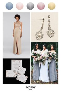Metallic bridesmaid dresses breathe an air of glamour into your wedding day. Find the perfect style and shade at David's Bridal
