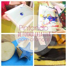 Pintura e arte com crianças: inventando carimbos e pinceis diferentes. Atividades criativas, arte e DIY