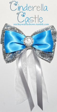Cinderella Castle hair bow by Mickey Waffles Bows on Etsy Hair Ribbons, Ribbon Hair, Ribbon Bows, Fabric Ribbon, Disney Diy, Disney Crafts, Disney Hair Bows, Diy Bow, Diy Hair Accessories