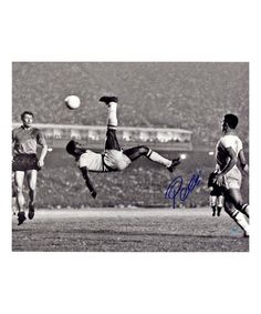 Look at this #zulilyfind! Pelé 1965 Bicycle Kick Close-Up Autographed Photo #zulilyfinds
