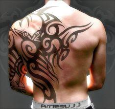 tribal tattoo design on back