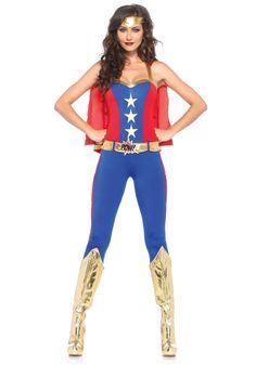 Leg Avenue Comic Book Hero Costume #Retro #WonderWoman