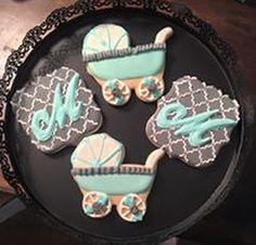 baby shower cookies by Gardenia Sweets!