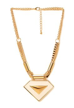 Cool Girl Faux Leather Pendant Necklace | FOREVER21 - 1000061155 $8