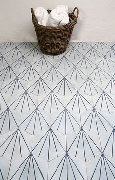 Dandelion - icicle/marine My favourite cement tiles ! House Tiles, Wall And Floor Tiles, Wall Tiles, Decoration Inspiration, Bathroom Inspiration, Cement Tiles Bathroom, Mosaic Tiles, Blue Moroccan Tile, Turkish Tiles