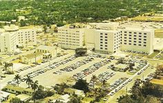 Aerial View of South Miami Hospital at 7400 S. in South Miami, Fla. South Miami, Back In The Day, Aerial View, Dolores Park, Travel, Viajes, Destinations, Traveling, Trips