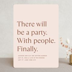 35 Stylish Wedding Invitations That You Can Actually Afford Funny Wedding Invitations, Wedding Invitation Inspiration, Wedding Favor Tags, Invites, Wedding Paper, Party Wedding, Wedding Humor, Wedding Stuff, Save The Date Postcards