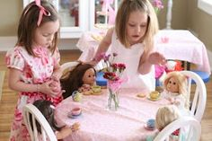 Dolly and me tea party.