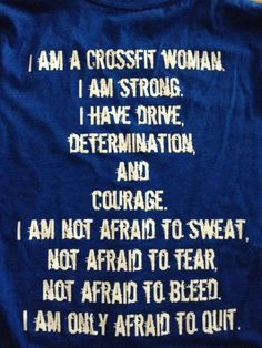 I AM A CROSSFIT WOMAN