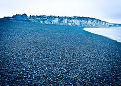 Beach of Dieppe, France My Grandpa fought here and thankfully was one of the few who made it out okay.  I'm going to visit Dieppe one day.