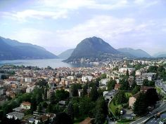 A view of Lugano, the largest city in Ticino