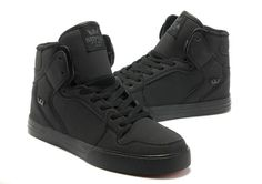 New Supra Vaider Black Red Sole Men's Shoes