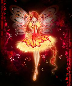 Without background / With normal colors / ENG: That's how the real fairy of Dragon Flame should look like - in fiery red, orange and ye. Fire Fairy, Les Winx, Real Fairies, Fairy Wallpaper, Barbie Images, Bloom Winx Club, Girls Are Awesome, Winter Fairy, Fairytale Fantasies