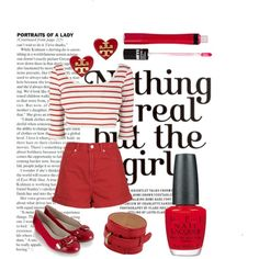 I see red, I see red, I SEE RED by the-retro-radio on Polyvore