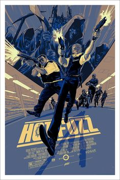 Hot Fuzz by Rich Kelly - Home of the Alternative Movie Poster -AMP- Omg Posters, Best Movie Posters, Cinema Posters, Movie Poster Art, New Poster, Pop Art, Non Plus Ultra, Superhero Poster, Stencils