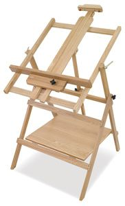 """Convertible Studio Easel - BLICK brand! List price $326.09. Blick price (5/10/2016) $97.83!!! Flat, tilted, upright, forward tilt, folds for storage, partially assembled. Shipping has """"OS"""" marked which may mean extra shipping charge OR limited to certain shipping methods. 95% Raving reviews!! I want one!"""