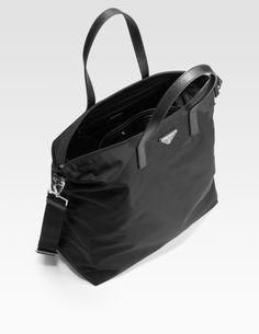 Prada Tessuto Stampato Nylon Shopping Tote | Drool: Bags ...