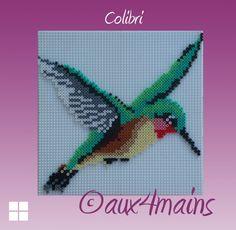 Hummingbird hama perler by aux4mains