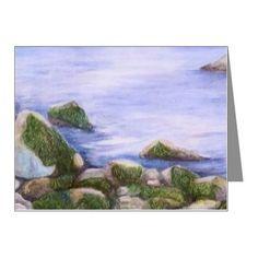 Ocean Rocks I Note Cards (Pk of 10) on CafePress.com