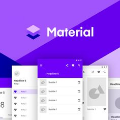 Get a leg up on your next prototype with Studio Material Design UI Kit Design Files, Ux Design, Free Design, Ui Elements, Inside Design, Work Tools, Ui Kit, Tabata, Material Design